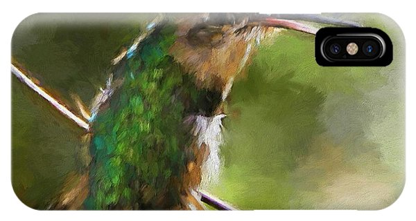 Happy Hummingbird IPhone Case