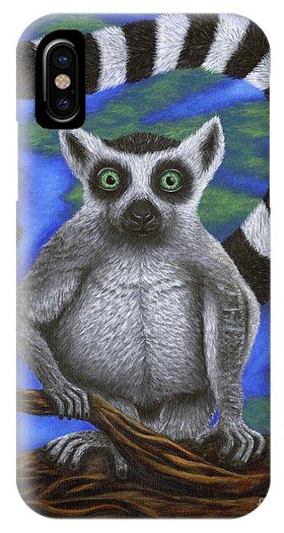Happy Lemur IPhone Case