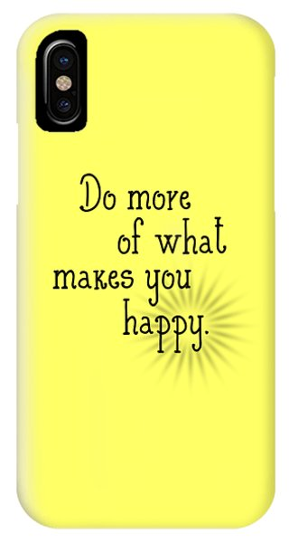 Text Art Happy IPhone Case