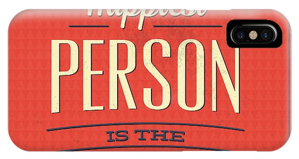 Fun iPhone Case - Happy Person by Naxart Studio