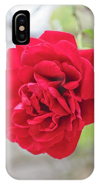 IPhone Case featuring the photograph Happy Red Flower by Raphael Lopez