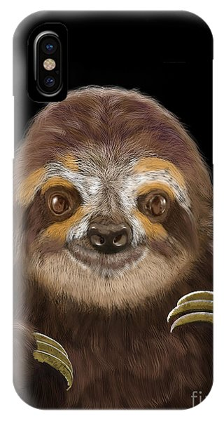 Happy Three Toe Sloth IPhone Case