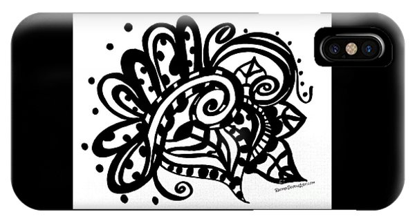 IPhone Case featuring the drawing Happy Swirl Doodle by Rachel Maynard
