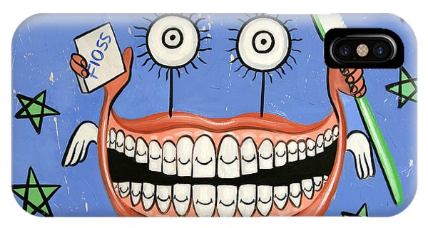 IPhone Case featuring the painting Happy Teeth by Anthony Falbo