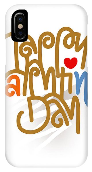 Happy Valentine's Day Poster IPhone Case