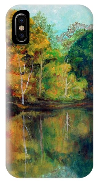 Happy Valley Pond Phone Case by Lyn Vic