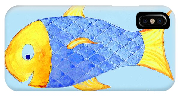 Happy Watercolor Fish IPhone Case