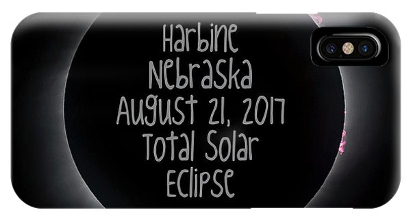 Harbine Nebraska Total Solar Eclipse August 21 2017 IPhone Case