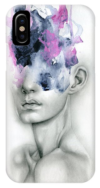 Abstract Figurative iPhone Case - Harbinger by Patricia Ariel