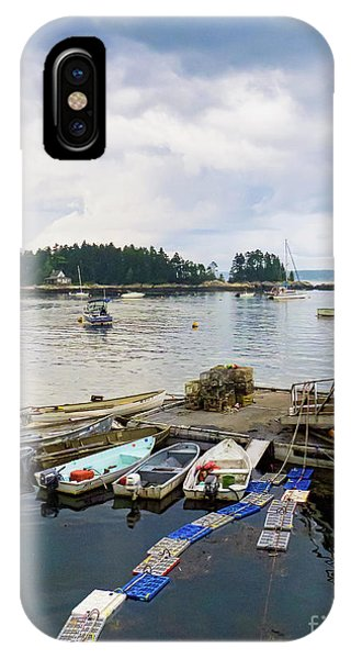 Harbor At Georgetown Five Islands, Georgetown, Maine #60550 IPhone Case