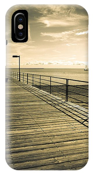 Harbor Beach Michigan Boardwalk IPhone Case