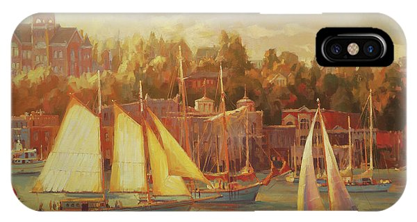 Docked Boats iPhone Case - Harbor Faire by Steve Henderson
