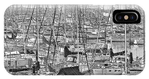 IPhone Case featuring the digital art Harbor II by Visual Artist Frank Bonilla