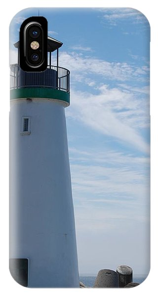 harbor lighthouse Santa Cruz IPhone Case