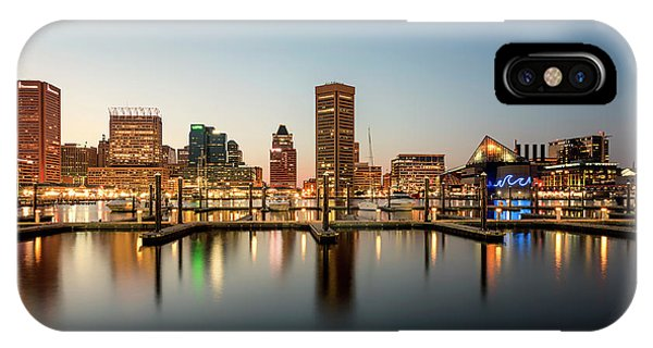 IPhone Case featuring the photograph Harbor Lights by Ryan Wyckoff