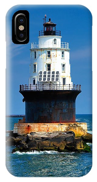 Harbor Of Refuge Lighthouse IPhone Case