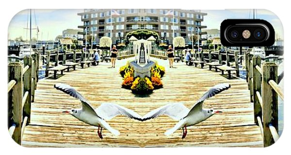 Stamford iPhone Case - Stamford Landing Marina by Diana Angstadt