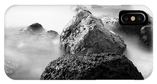 Harbor Rocks And Misty Ocean II IPhone Case
