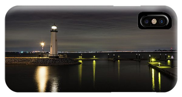 Harbor Rockwall Lighthouse IPhone Case