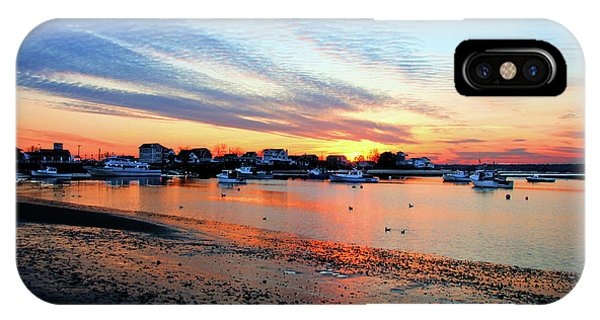 Harbor Sunset At Low Tide IPhone Case
