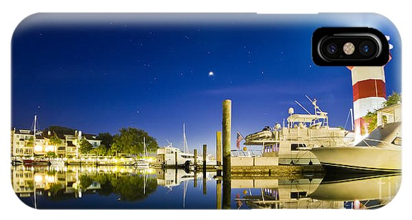 Harbor Town Yacht Basin Light House Hilton Head South Carolina IPhone Case