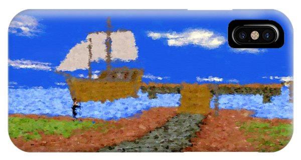 Harbor With Boat IPhone Case