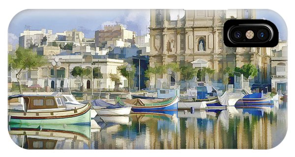 Harborside Msida Malta IPhone Case