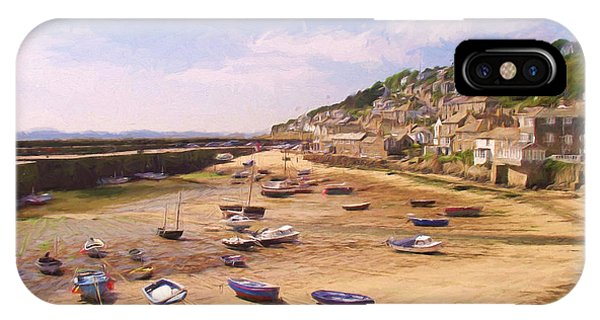 Harbour At Low Tide - Mousehole IPhone Case