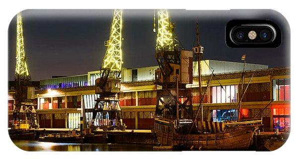 Harbour Cranes IPhone Case