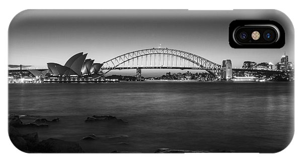 iPhone Case - Harbour Nights In Bw  by Andrew Paranavitana
