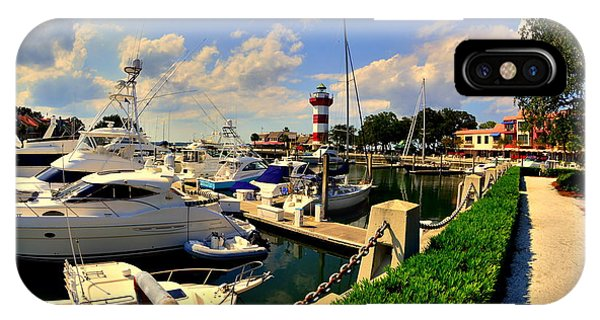 Harbour Town Marina Sea Pines Resort Hilton Head Sc IPhone Case