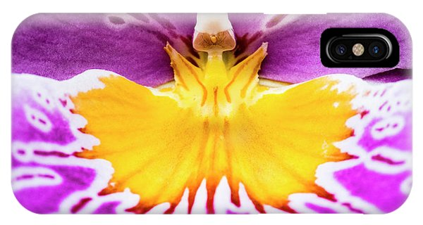 IPhone Case featuring the photograph Hardhat Soldier/orchid by Penny Lisowski