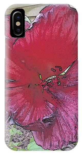 Hardy Hibiscus IPhone Case