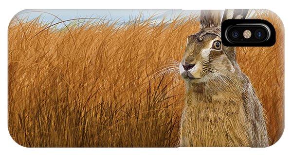 Hare In Grasslands IPhone Case