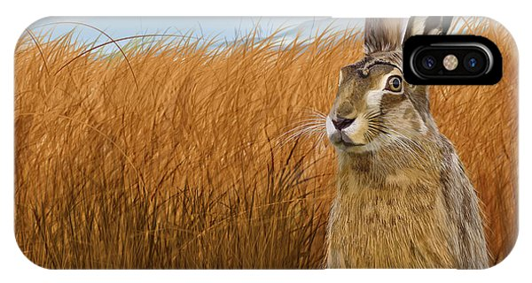 Hare In Grasslands IPhone Case