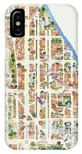 Harlem Map From 106-155th Streets IPhone Case