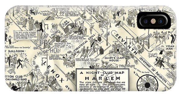 Harlem iPhone Case - Harlem Prohibition Nightclub Map 1926 by Daniel Hagerman