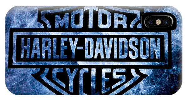 Harley iPhone Case - Harley Davidson Logo Blue by Randy Steele