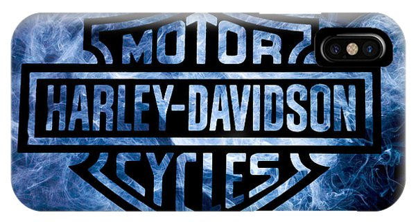 Harley Davidson Logo Blue IPhone Case