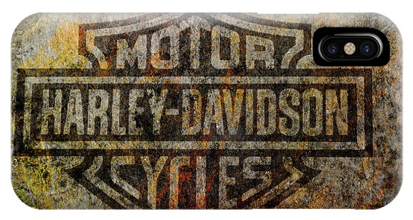 Harley Davidson Logo Grunge Metal IPhone Case