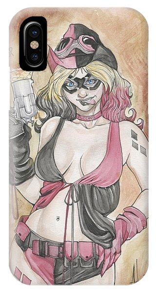 Harley Quinn And Her Popgun IPhone Case