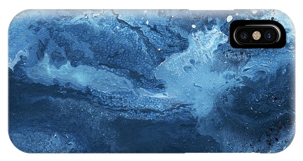 Blue And White iPhone Case - Harmonious Blues- Art By Linda Woods by Linda Woods