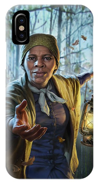Train iPhone X Case - Harriet Tubman by Mark Fredrickson