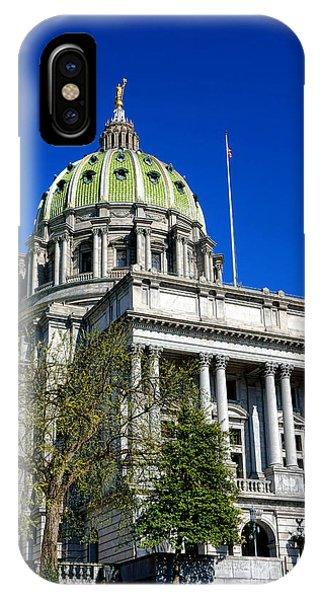 Capitol Building iPhone Case - Harrisburg Capitol Building by Olivier Le Queinec
