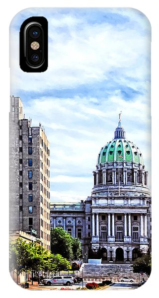 Harrisburg Pa - Capitol Building Seen From State Street IPhone Case