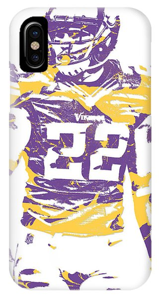 Harrison iPhone Case - Harrison Smith Minnesota Vikings Pixel Art 1 by Joe Hamilton