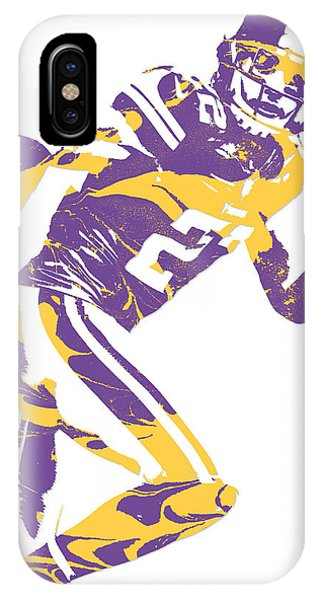 Harrison iPhone Case - Harrison Smith Minnesota Vikings Pixel Art 2 by Joe Hamilton