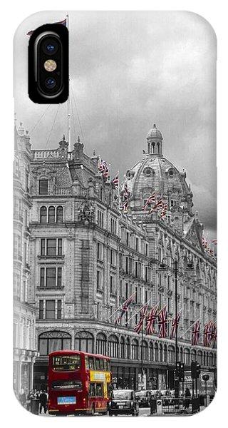 Harrods Of Knightsbridge Bw Hdr IPhone Case