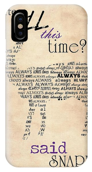 Snape iPhone Case - Harry Potter,severus Snape After All This Time, Always Poster by Pete Wardley