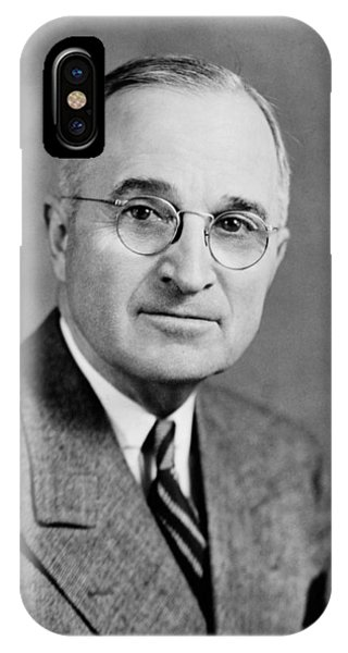 Atomic iPhone Case - Harry Truman - 33rd President Of The United States by War Is Hell Store